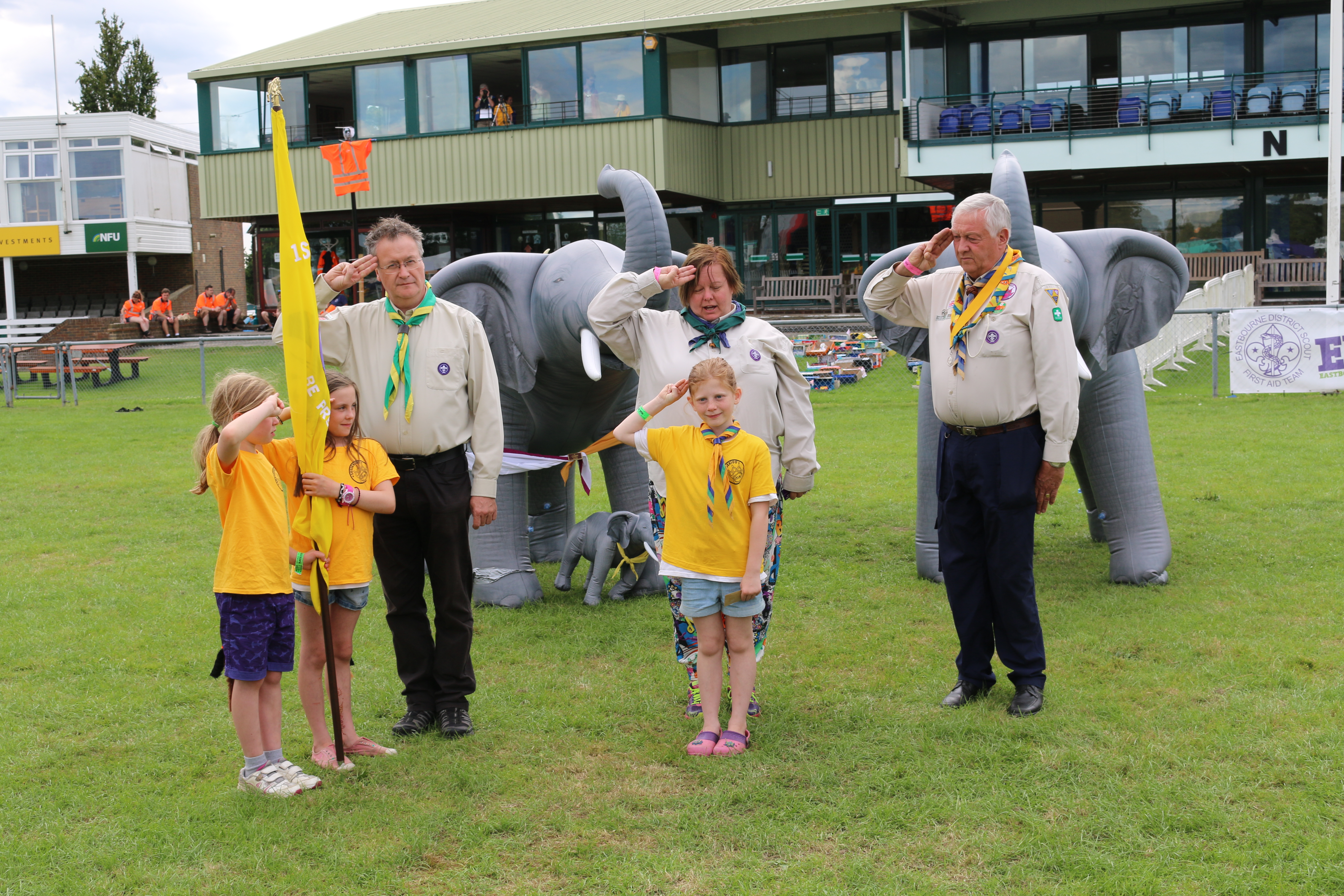 Ashdown District – Investiture at Sussex 100